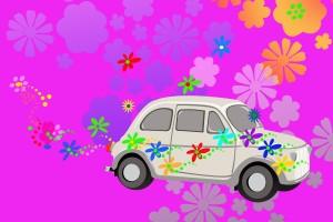 bigstock-Flower-Power-Hippie-Car-Fantas-2755142